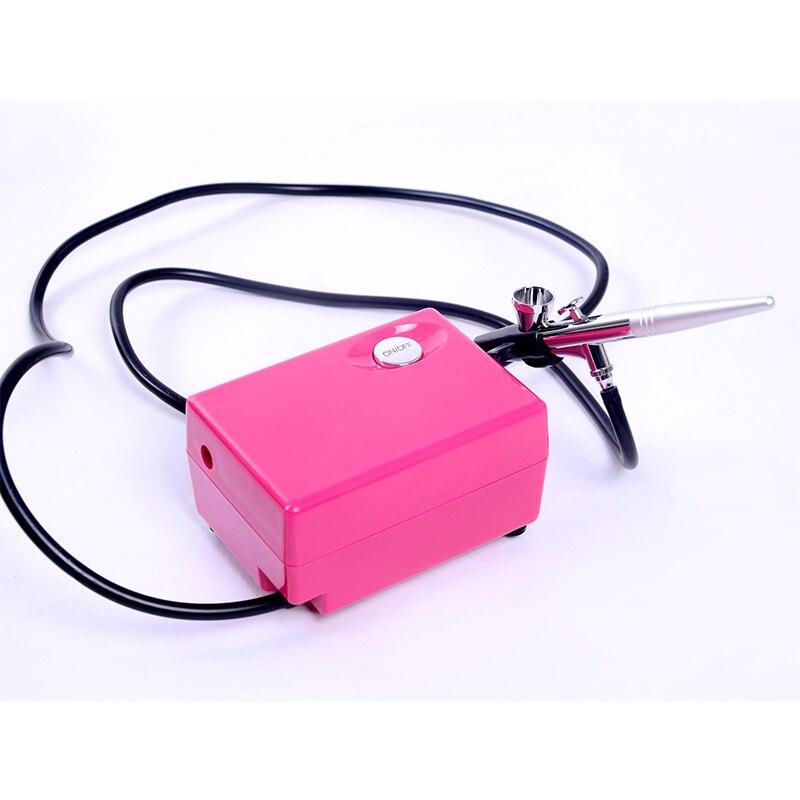 Pistolet aérographe Portable pour décor tatouages chaud 0.4mm multi-usage aérographe compresseur Spray Art peinture pistolet Kit ensemble
