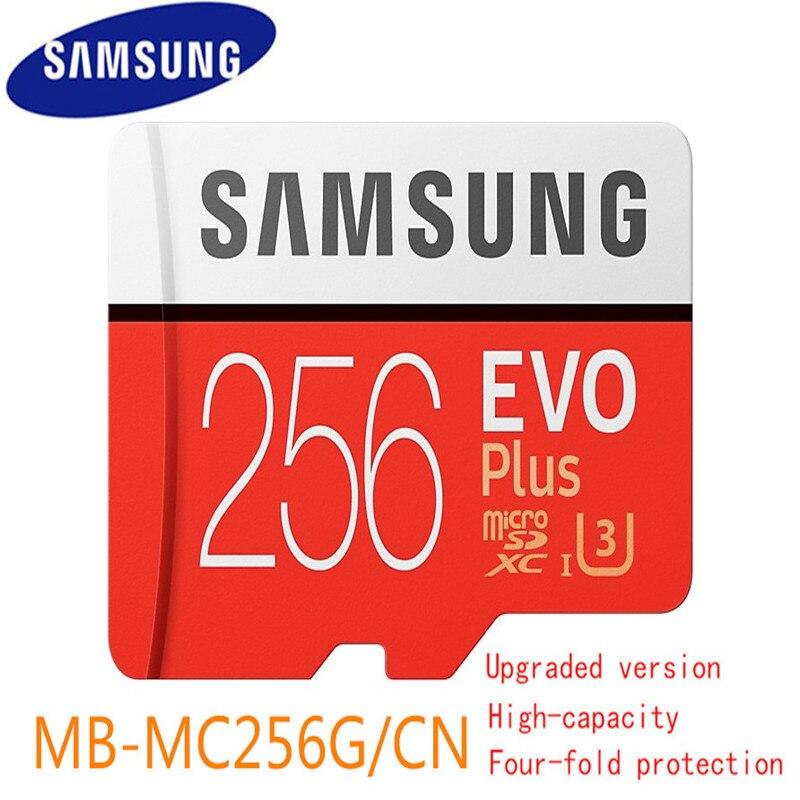 Nouveau 100% D'origine Samsung Carte Mémoire Micro Sd 256 go Microsd Cartes Sdhc Sdxc Max 95 mb/s Evo C10 Lecteur Flash Carte Tf