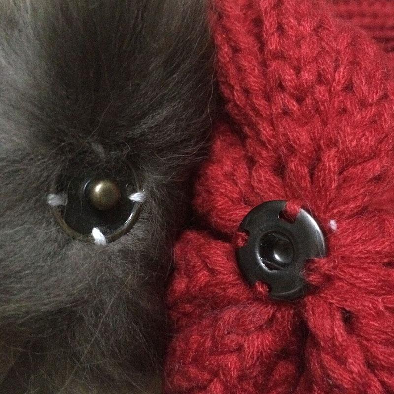 [FLB] Grå Mink Fur Ball Cap Pom Poms Vinter Hat Til Kvinder Piges - Beklædningstilbehør - Foto 6