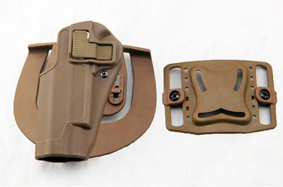 US $16 76 14% OFF|Quick Draw Tactical Left Hand Belt Holster w Paddle for  Colt 1911 M1911 Tan-in Holsters from Sports & Entertainment on