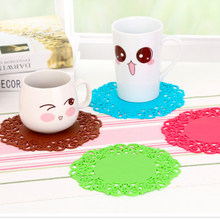 2PCS New Hollow Heat Pads Insulation Supermarket Home Coffee Rose Flowers Cup Table Gifts Advertising Anti-Slip Mats Accessories(China)