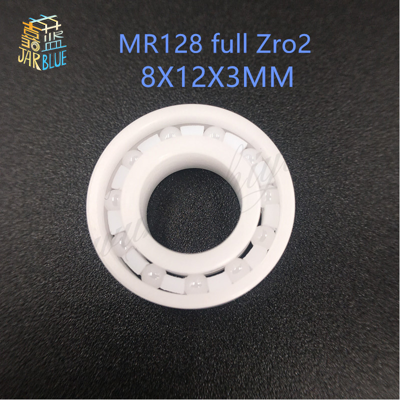 Free Shipping Full Ceramic zro2 ball bearing MR128 CB 8X12X3.5MM mr128 fishing bearing free shipping 697 619 7 7x17x5 mm full zro2 ceramic ball bearing