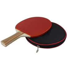 Table Tennis Racket Bat Ping Pong Paddle with Bag Racket Case for Sport Game (Red)(China)