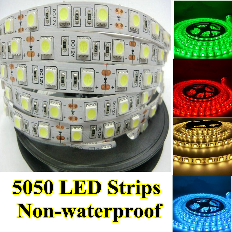 10 pz / lotto Led Strip 5050 DC12V Flessibile LED Light LED Strip 60 - Illuminazione a LED