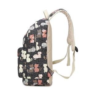 Image 3 - ZENBEFE Cute Backpack Quality Women Backpack Printing Backpacks For Girls Cat Pattern School Bag ForTeenagers Backpack Female