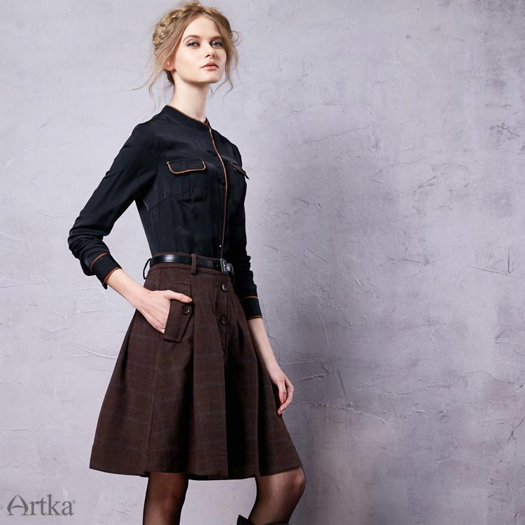 Limo 割引価格 秋女性 用冬の女性のウールスカートロリータショートスカート女の子のためのヴィンテージ格子縞のスカートミニサイア 16