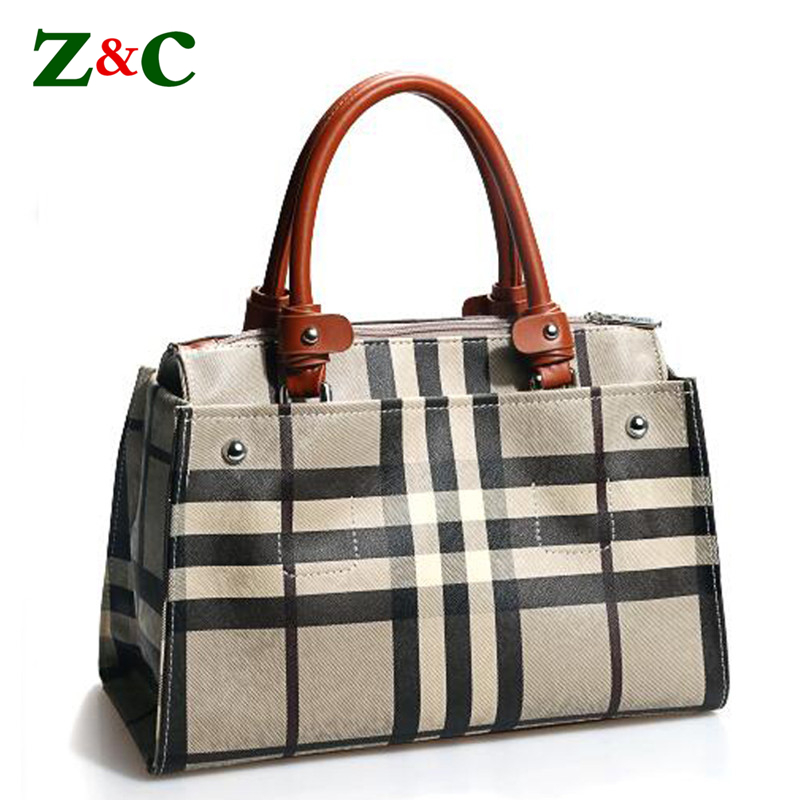 Newest Ladies Handbag Striped Stitching Women Large Khaki Tote Bag Genuine Cow Leather Briefcase Business Bag Office Commute Bag