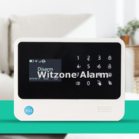 White Black Color WIFI GSM Alarm Panel Control Unit New Version W Larger LCD Screen English