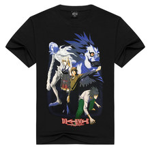 2018 Nieuwste Mode Top Kwaliteit Death Note Gedrukt T-Shirt Mannen cartoon anime T-shirt Fashion Top Tee gift voor zon(China)