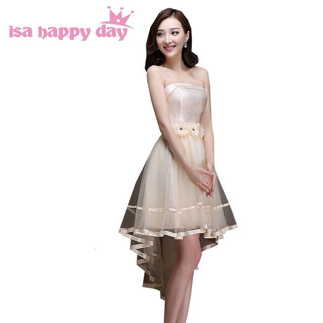 braidsmaid strapless dresses high low 2017 bridesmaid pretty dresses ...