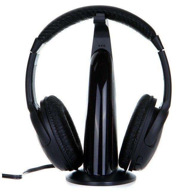 5 в 1 Многофункционная Беспроводные Наушники Fm-радио Гарнитура HiFi Наушники монитор DJ MIC Для ПК TV DVD Аудио Мобильный Голос Пообщаться