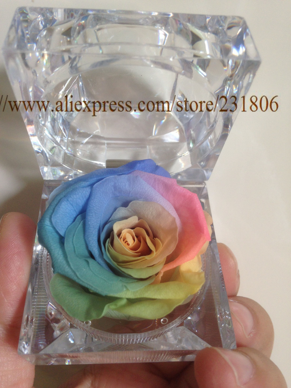 Free ShippingPreserved Rose Eternal Flower Ring Box