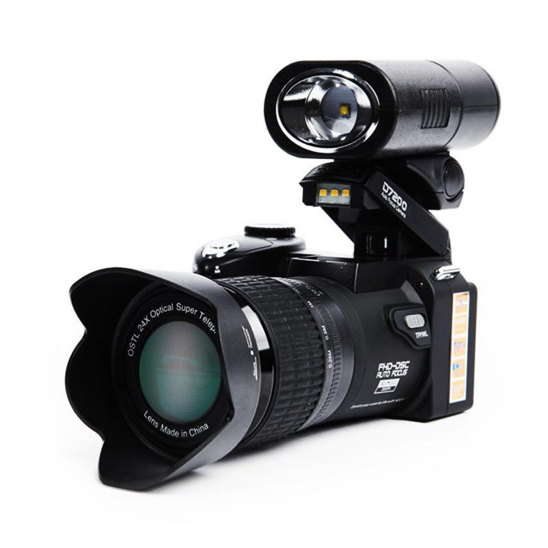 """Prix pour D7200 Appareil Photo Numérique 16MP 3.0 """"1080 P HD caméscope 24X zoom optique téléobjectif Grand Angle Objectif Professionnel caméra vidéo caméra"""