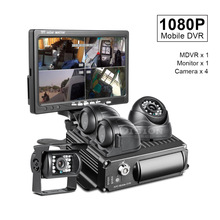 Car-Recorder Front/Rear-View-Camera Taxi/bus Sd-Mobile-Dvr Playback 7inch AHD 4 for 4x1.3mp