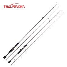 TSURINOYA ELF AJING Fishing Rod 1.8m 2.25m 2.46m 2 Section Ultra Light Spinning Casting Rod FUJI Accessories Carbon Lure Rod