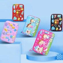 лучшая цена Kawaii 3D School Pencil Case for Girls Boys Penal Korean Pen Bag Cute EVA Large Makeup Pencilcase Pouch Stationery Box Penalties