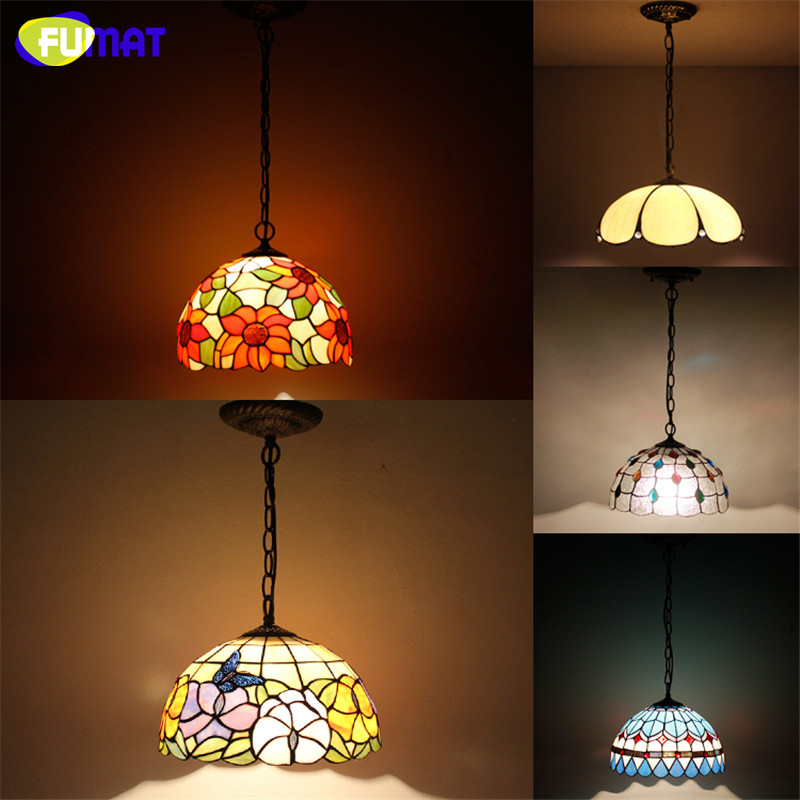 European Style Tiffany Lamp Single Light Stained Glass Suspension Light Restaurant Kitchen Lamp Hotel Project Lights fumat stained glass pendant lamp big lampshade light european style suspension light restaurant lamp hotel lights fixtures