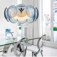 Подвесные светильники для столовой, подвесная лампы современные минималистские лампы для ресторанов роскошные подвесные светильники стек