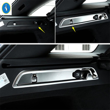 Yimaautotrims Auto Accessory Trunk Luggage Boot Hook Adjustment Button Cover Kit Trim Fit For Mercedes Benz GLC X253 2016 - 2019