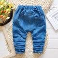2016 Primavera Nova Moda de Alta Qualidade Calças Jeans para Crianças de 1-3 Anos Das Meninas do Menino Do Bebê Calças