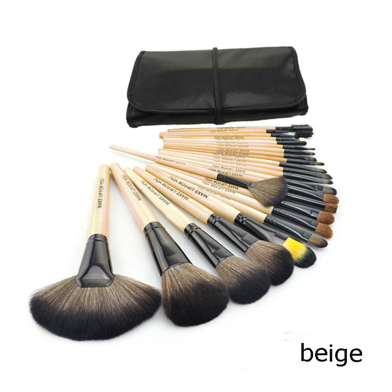 HOT Professional 24 pcs Paintbrushes of Makeup Brushes tools set Make-up Toiletry Kit Wool Brand hand to Make Up Brush Set Case 2015 hot sale professional 24 pcs makeup brush set tools make up toiletry kit wool brand face make up brushes set case cosmetic