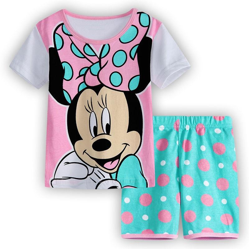 f891caa4cd42 Summer Boys Pajamas Suit 100% Cotton Soft Children Sleepwear Shorts ...