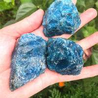 Natural Blue Apatite Crystal Stone Ore Natural Rough Mineral Specimen Lucky Natural Stones and Minerals Natural Stone Crystal