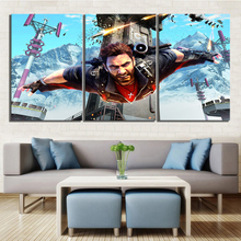 3 Piece Shooting Game Poster Just Cause Picture Canvas Paintings Rico Rodriguez Artwork Wall for Home Decor