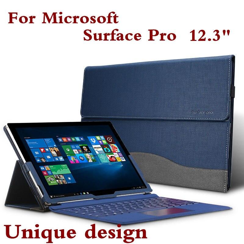 Neue Hohe Qualität Tablet Fall Für Microsoft Oberfläche Pro 6 5 4 3 12,3 M3 Lassen Premium PU Leder Tastatur Abdeckung Stylus Geschenk