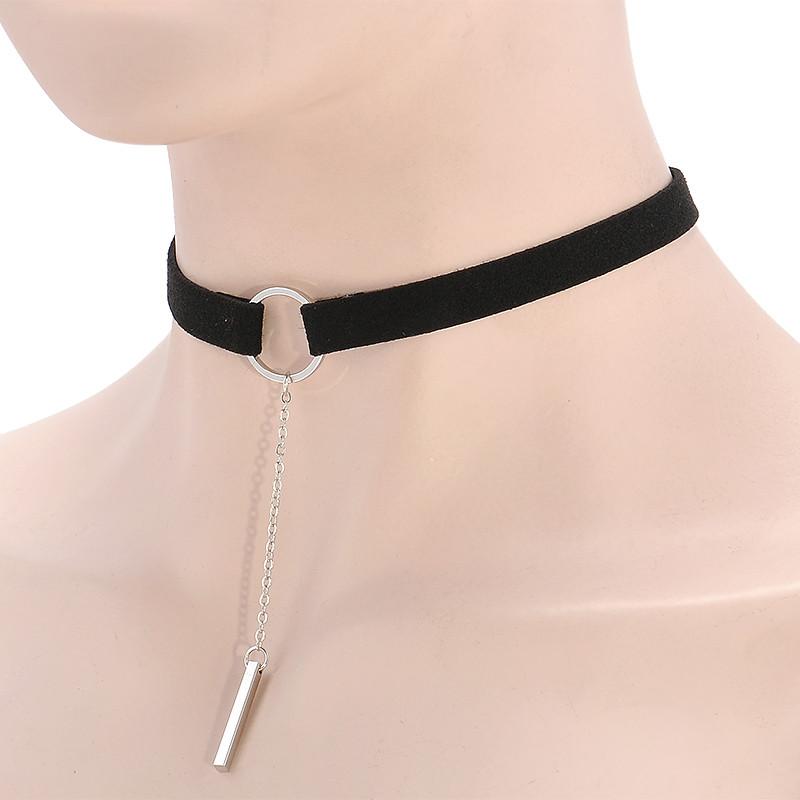 HTB1LpOYOXXXXXbqapXXq6xXFXXXa Punk Leather Collar Necklace With Geometric Pendant