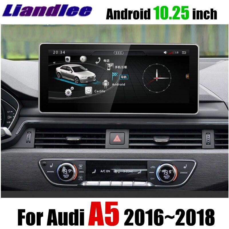 Lecteur multimédia de voiture Liandlee NAVI 10.25 pouces pour Audi A5 F5 S5 RS5 2016 ~ 2018 Original CarPlay Radio stéréo GPS Navigation