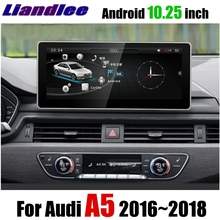 Liandlee Car Multimedia Player NAVI 10.25 inch For Audi A5 F5 S5 RS5 2016~2018 Original car style Radio Stereo GPS Navigation