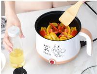 220V Mini Multifunctional Electric Cooking Pot Machine Single/Double Layer Available 3 Color Available Hot Pot Multi Cooker