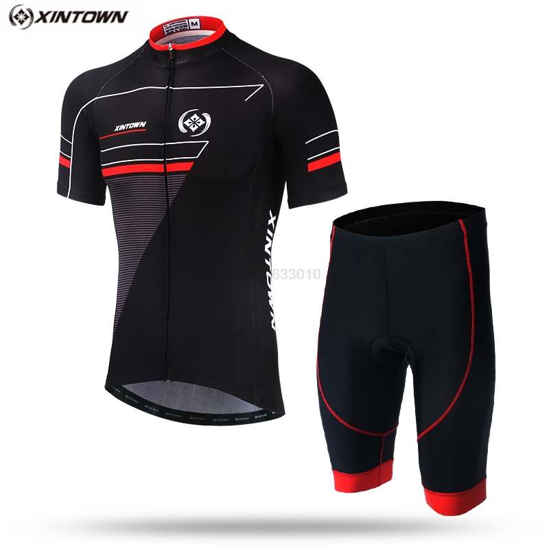 XINTOWN 2018 Team Cycling Jersey Anti Sweat Full Zipper Breathable Pad Bike Shorts MTB Men's Cycling Clothing Summer Bike Wear|Cycling Sets| |  - title=