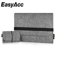 EasyAcc13.3 inch felt Sleeve case Ultrabook Laptop bag for Apple MacboPortable Travel Pounch Free shipping  чехол krusell tumba mobile pounch 3xl черный