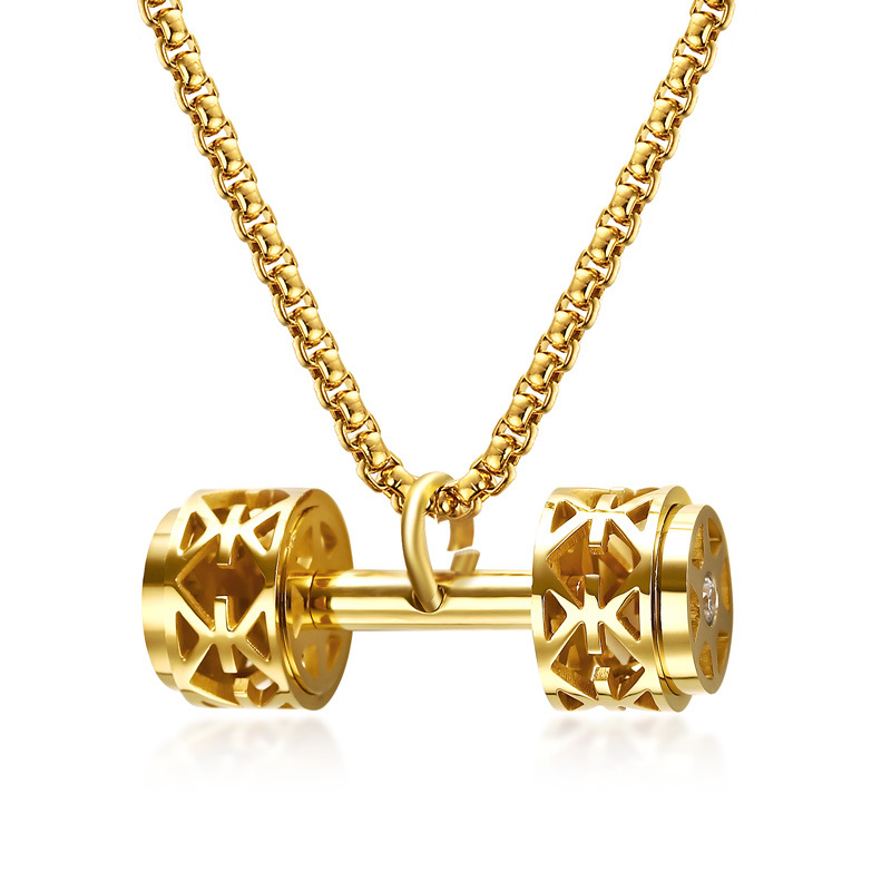 New products listed fitness talent dumbbell pendant stainles