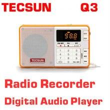Livraison Gratuite TECSUN Q3 FM Stéréo Poche Taille Enregistreur Lecteur MP3 Radio FM