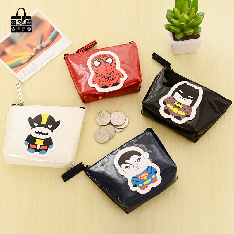 1pcs Rose Diary hero alliance PU zipper coin purses zero wallet child girl boy women purse,lady zero wallets,coin bag key bag american super hero batman pu short zero wallet coin purse with interior zipper pocket