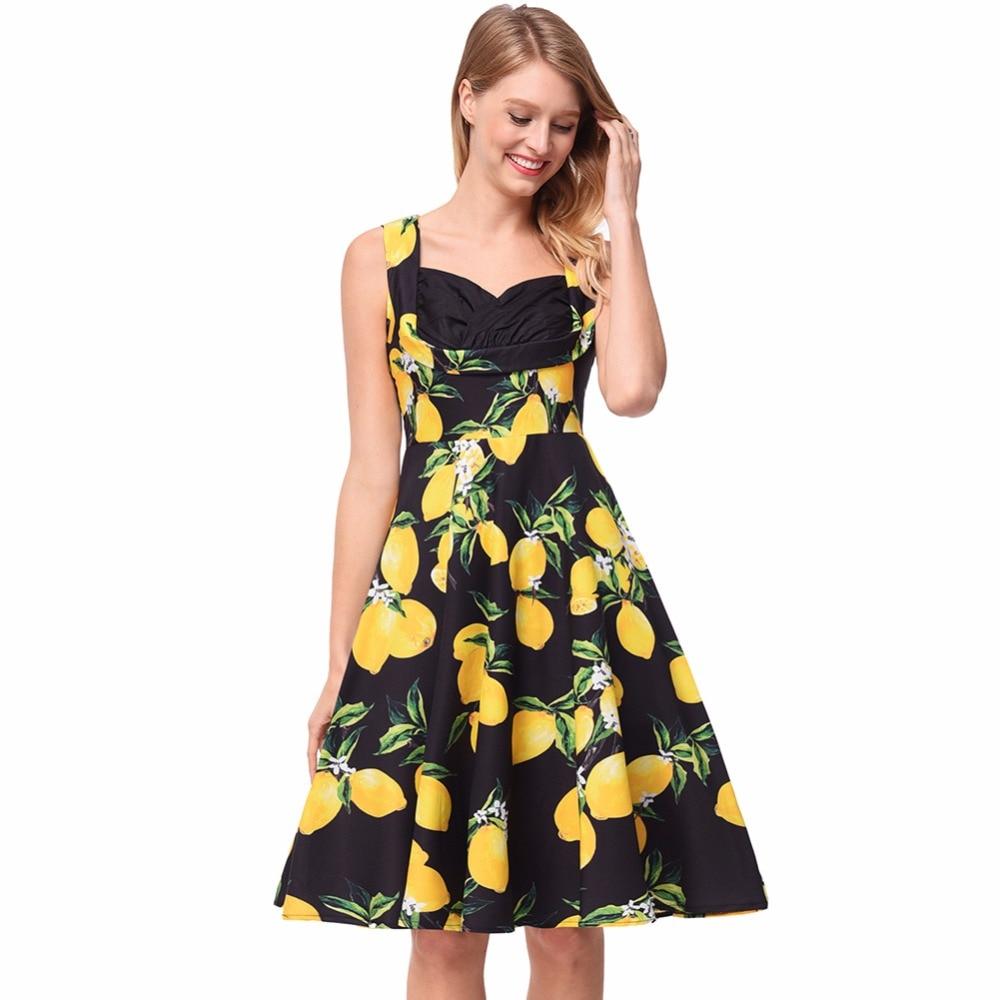Women Dress Summer Sleeveless Sweet Boho Sexy Party Night Club Wear Evening 2018 Vintage Floral Retro Palace Ladies Dresses