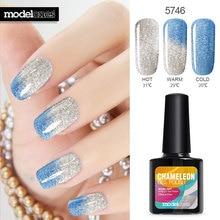 Modelones 10ml Chameleon Temperature Changing Color Nail gel polish 57 colors UV gel Soak-off  UV gel polish  varnish