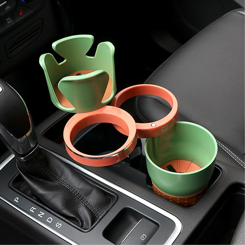 Coche-estilo de coche Auto gafas de sol taza de bebida titular sostenedor del teléfono del coche para monedas llaves teléfono accesorios de Interior