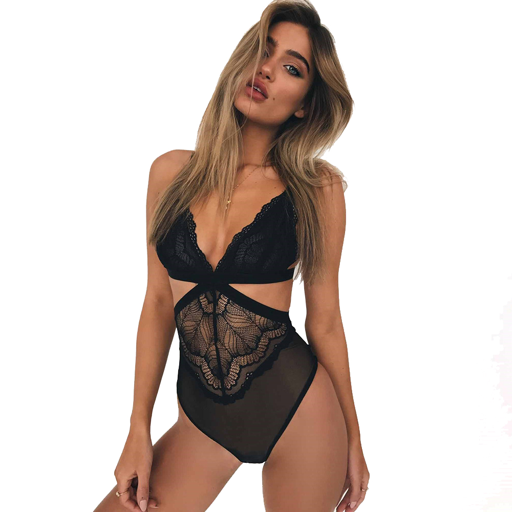Image 4 - SSWILD LADY  Women Sexy Lace Bodysuit  See Through Patchwork  Body Suit Erotic Costume Sex Clothing Teddy Lingerie 2997-in Teddies & Bodysuits from Novelty & Special Use