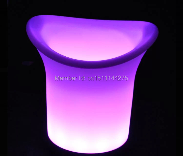 2PCS/Lot SLONGLIGHT 2.7L Plastic Colorful LED Ice Bucket,Controllable Colors LED light up Champagne beer Cooler