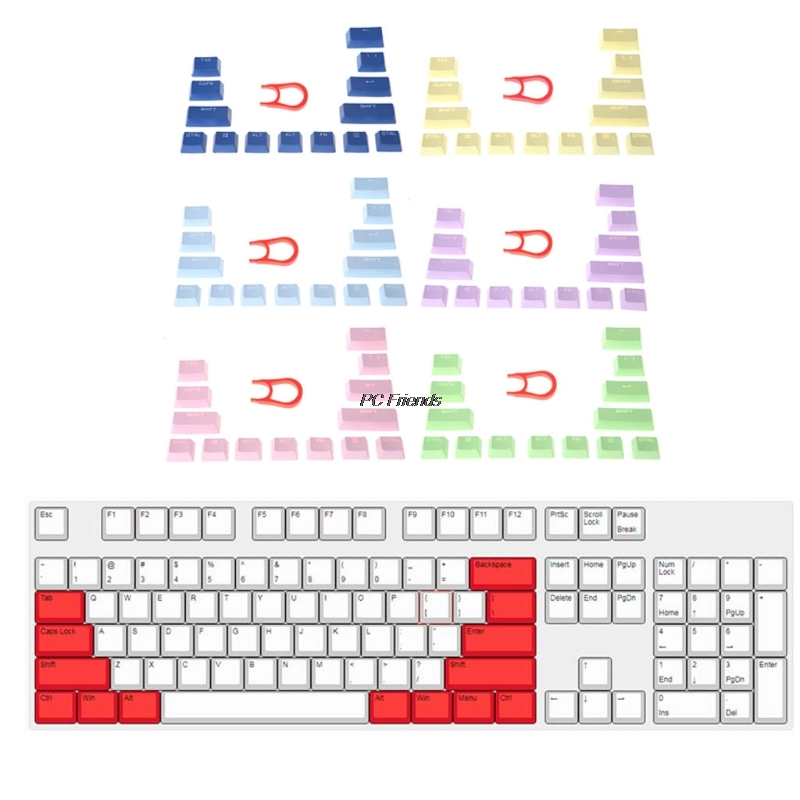 <font><b>14</b></font> <font><b>Key</b></font> <font><b>Caps</b></font> Multicolor PBT Mechanical keyboards Keycap For Cherry MX X6HA image