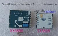 TX5828 RX5808 Lauch ve Alıcı Modülü 5.8G Küçük Boyutu 600 mW Kablosuz Ses Video Iletim FPV