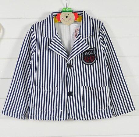 Розничная торговля - весна хлопок полосатый свободного покроя пиджак пиджак на время 2 - 7 ребенок мальчик