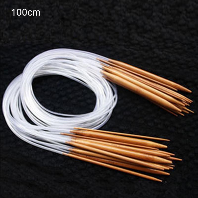 Color Knitting Tube 18 Models / Set Of Bamboo Round Crochet Needle 40cm 60cm 80cm 100cm 120cm Length