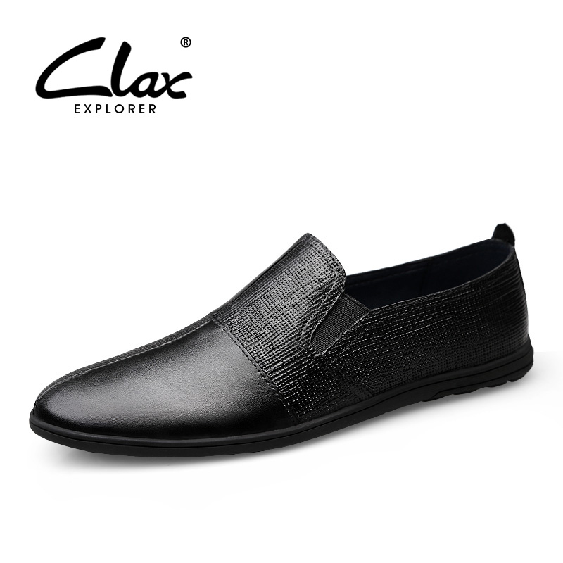 CLAX Men Moccasins Genuine Leather 2019 Spring Summer Casual Leather Shoes Male Loafer Designer Flats Boat