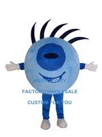 Azul globo ocular olho personalizado dos desenhos animados do traje da mascote caráter cosplay adulto tamanho traje do carnaval 3510