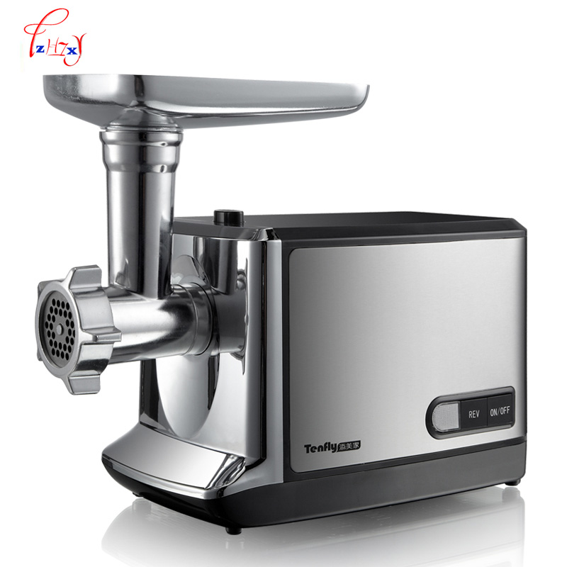 Household electric meat grinder Stainless steel meat mincer mincing machine meat cutter Multifunction sausage THMGF350A 110 240v electric meat grinder heavy duty household commercial sausage maker meats mincer food grinding mincing machine
